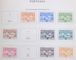 Portugália gyűjteményrész albumlapokon + 2 berakólap rengeteg többletpéldánnyal gyűrűs borítóban