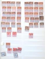 Néhány száz Turul, Árvíz, Hadisegély bélyeg 28 lapos Schaubek csavaros nagy berakóban