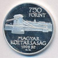 1998. 750Ft Ag Budapest 125 éves tanúsítvánnyal T:PP ujjlenyomatos Adamo EM149
