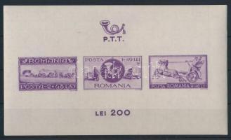 1944 Posta és vasút blokkpár Mi 22-23 (Mi EUR 30,-)