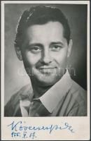 1955 Kövecses Béla(1919-) aláírása az őt ábrázoló fotón