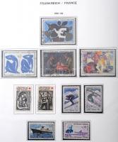 Francia gyűjtemény 1960-1969 fénymásolt albumlapokon filázva gyűrűs borítóban