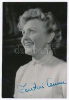 Zentai Anna(1924-) színművésznő aláírása az őt ábrázoló fotón