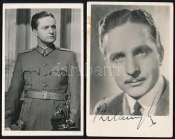 Szilassy László (1908-1972) színész aláírása őt magát ábrázoló fotón + 1 db Szilassyt ábrázoló fotó
