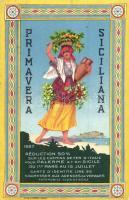 1927 Primavera Siciliana / festival, tourism advertisement, A. Marzi litho