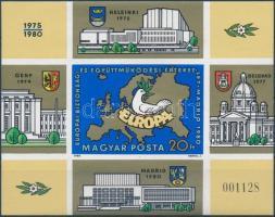 1980 Európai Biztonsági és Együttműködési Értekezlet (V.) vágott blokk (6.000)