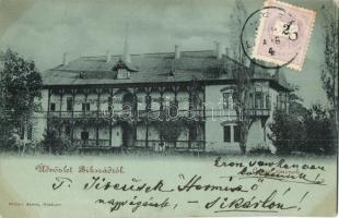 1899 Bikszád-fürdő, Bixad; Anna csarnok / villa, TCV card