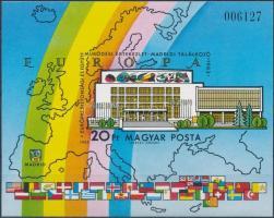 1983 Madridi találkozó vágott blokk (3.200)
