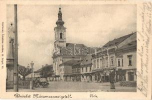 Máramarossziget, Sighetu Marmatiei; Fő tér, Csapodi Sándor üzlete / square, shop