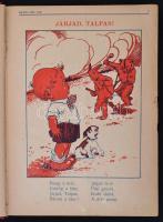 1927 Képes Kis Lap. Szerk.: Havas István. IV. évfolyam. 1-34. szám. Átkötött egészvászon kötés, megviselt állapotban, kissé laza fűzéssel, az első szám hiányos, a lapok szakadozottak, 127-128. oldal hiányos, 524-529. oldal között a lapok kijárnak.
