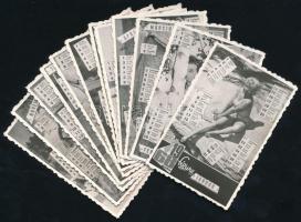 1968 Akt fotónaptárak, 12 db, 9x6 cm
