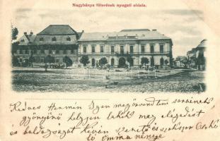 1899 Nagybánya, Baia Mare; Főtér nyugati oldala / Main square
