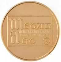 Bognár György (1944-) 1995. Metal Art Nemesfémipari Rt. / Boldog Új Évet 1995 aranyozott Br naptárérem (42,5mm) T:1-(PP)