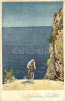 Gomme Pirelli. Agenzia Italiana Pneumatic Pirelli / Italian bicycle tires, advertisement card (fa)