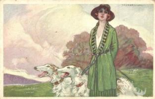17 db RÉGI művészlap, vegyes minőség / 17 old art motive cards, mixed quality