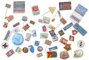 50db-os Lenin, illetve Olimpia és sport tematikájú jelvény és kitűző tétel T:vegyes
