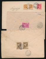 1939 7 db levél különböző bérmentesítéssel