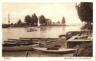 Siófok, Jachtklub és csónakkikötő