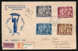 1950 Felszabadulás (II) sor expressz ajánlott levélen