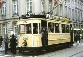 16 db MODERN használatlan vidéki villamosos motívumlap / 16 modern unused Hungarian trams motive cards