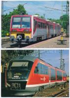 20 db MODERN használatlan magyar vasutas motívumlap, vonatok / 20 modern unused Hungarian trains motive cards