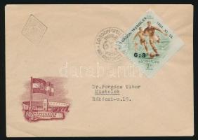1953 Labdarúgó 6:3 FDC alkalmi bélyegzéssel