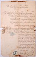 1862 Pest város tanácsának engedélye pékmester részére