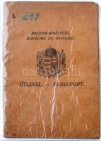 1933 Fényképes útlevél orvos részére / Passport for doctor