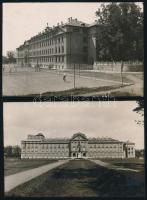 cca 1925-1944 A premontrei rendház és gimnázium épületéről készült fotók, 2 db, felületükön enyhe törésnyomokkal, 10x14 cm