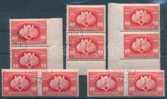 1949 UPU 60f 3 db függőleges C pár + 2 db vízszintes D pár (16.000)