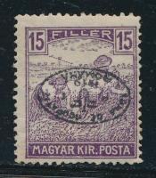 Debrecen (II) 1919 Arató 15f fordított felülnyomással, garancia nélkül