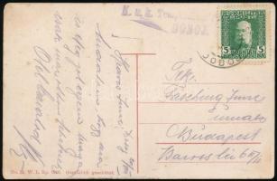 1915 Tábori posta képeslap K.u.K. Temp* / DOBOJ Budapestre küldve
