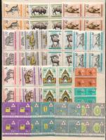 1961 Budapesti Állatkert + Egészségügy sorok négyestömbökben