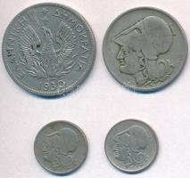 Görögország 1926. 20l Cu-Ni (2x) + 2D Cu-Ni + 1930. 5D Ni T:2,2- Greece 1926. 20 Lepta Cu-Ni (2x) + 2 Drachmai Cu-Ni + 1930. 5 Drachmai Ni C:XF,VF