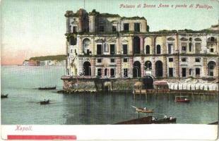 Naples, Napoli; Palazzo di Donna Anna e punta di Posilipo