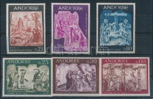 1967-1968 Bibliai freskók 2 klf sor MI 204-206, 211-213