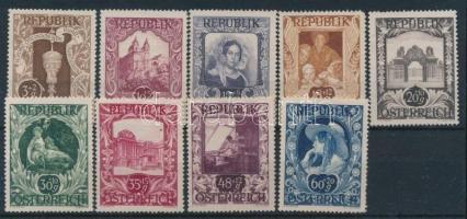 1947 Festmény sor 9 értéke Mi 812-821 (Mi 813 hiányzik / missing)