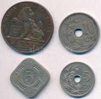 Vegyes: Belgium 1859. 5c Cu + 1902. 5c Cu-Ni + 1921. 10c Cu-Ni + Hollandia 1923. 5c Cu-Ni T:2,2- ph. Mixed: Belgium 1859. 5 Centimes Cu + 1902. 5 Centimes Cu-Ni + 1921. 10 Centimes Cu-Ni + Netherlands 1923. 5 Cents Cu-Ni C:XF,VF edge error