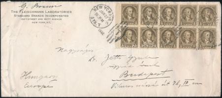 1932 2 db levél NEW YORK - Budapestre küldve