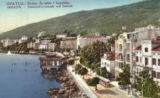 Abbazia, Opatija; Slatina promenade mit Seebad