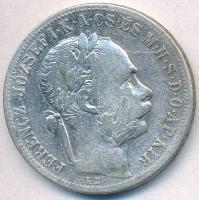 1891KB 1Ft Ag Ferenc József / Fiume címer T:2- Adamo M15