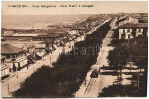Viareggio, Viale Margherita, Viale Manin e spiagga / streets, tram, beach (vágott / cut)