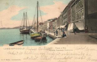 Mali Losinj, Lussinpiccolo; Piazza e Riva Arciduva Francesco Ferdinando