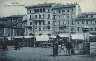 Trieste, Piazza Carlo Goldoni / square, market (EK)