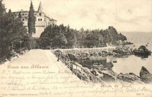 1899 Abbazia, Kirche St. Jacob / church (EK)