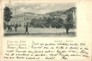 1899 Trieste, Bahnhof / Stazione / railway station (EK)