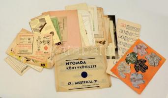 cca 1920-1940 Vegyes reklámnyomtatvány tétel, benne kb 40 db