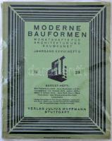1929 Német építészeti és lakberendezési folyóirat sok képpel / Moderne Bauformen. Monatshefte für Architektur und Raumkunst, Jahrgang XXVIII Heft 8