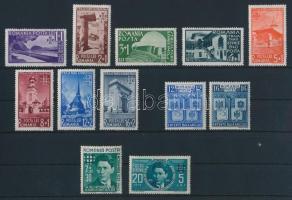 1940 2 sor és 2 bélyeg Mi 615-616, 631-638, 680-681 (**Mi EUR 31,5-)