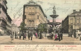 Budapest VIII. Kálvin tér, gyógyszertár, Lámpaárugyár, vendéglő
